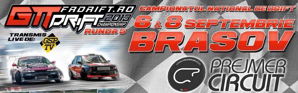 Runda a 5-a a Campionatului National de Drift va avea loc la Prejmer Circuit