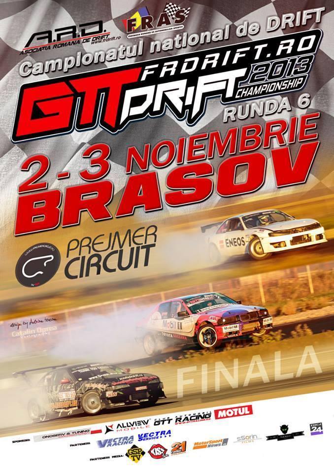 Finala Campionatului National de Drift va avea loc la Prejmer