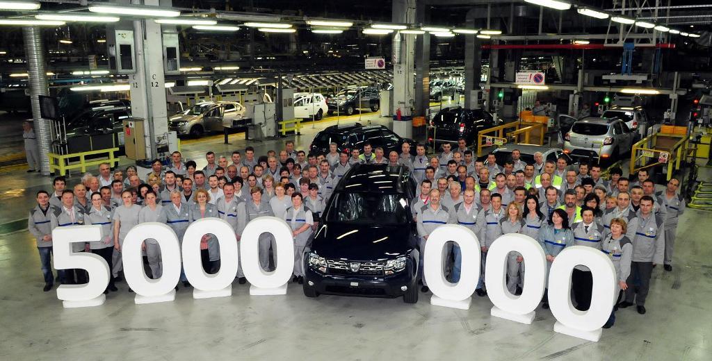 Dacia a sarbatorit 5 milioane de automobile produse