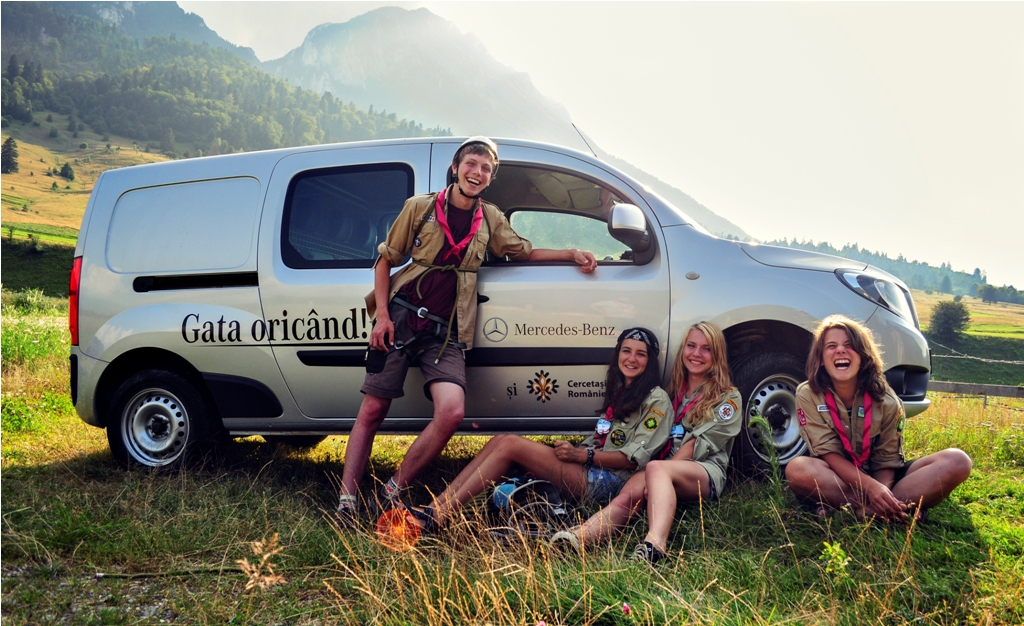 Mercedes-Benz România a fost alături de cercetași în aventurile lor din județul Braşov