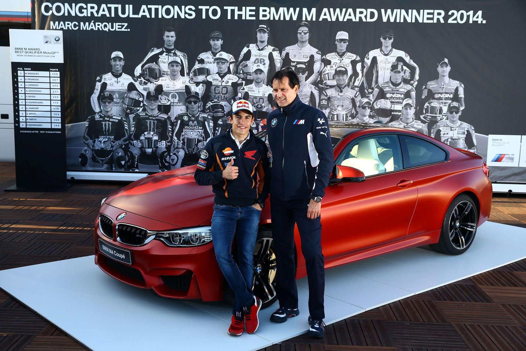 Marc Marquez a castigat pentru a doua oara consecutiv trofeul BMW M Award
