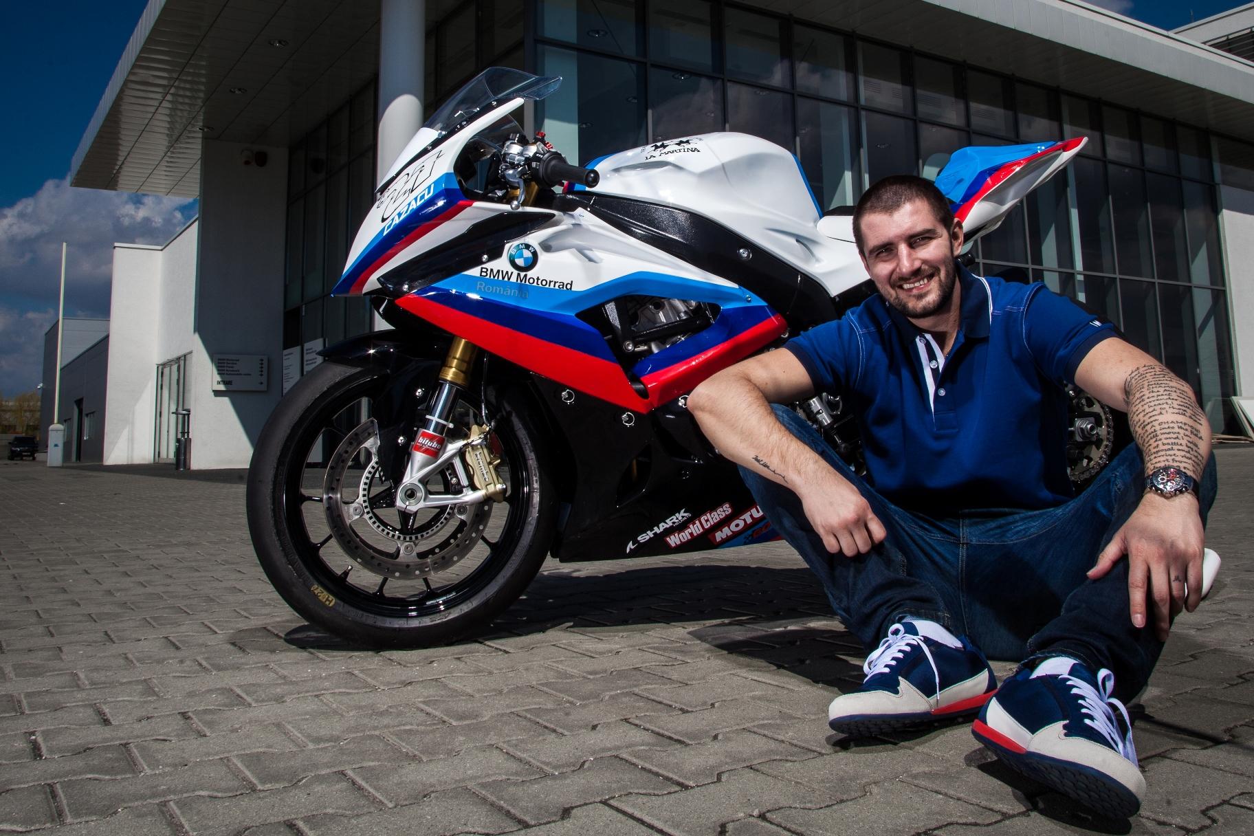 BMW Motorrad România a semnat un parteneriat cu Cătălin Cazacu