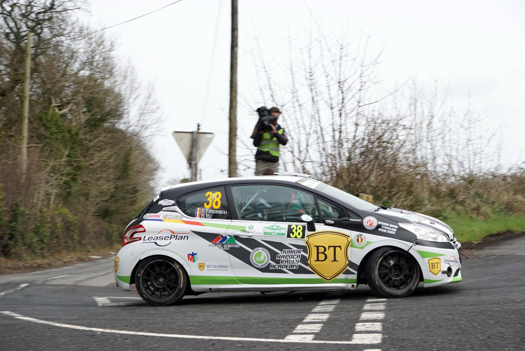 Florin Tincescu a obținut primele puncte din Junior ERC în Irlanda