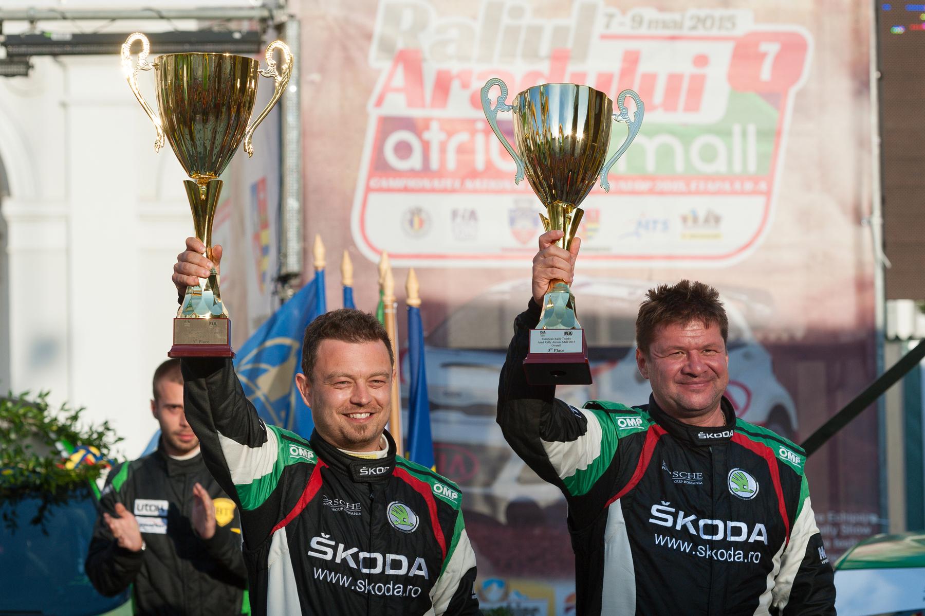 Dan Gîrtofan pe podium în European Rally Trophy Arad