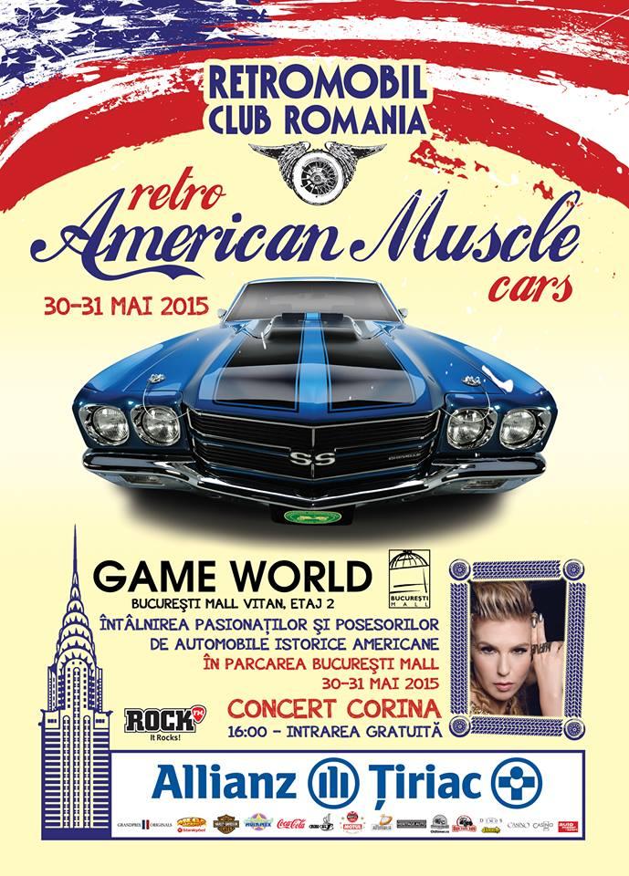 Retro American Muscle Cars, 30-31 mai Bucuresti