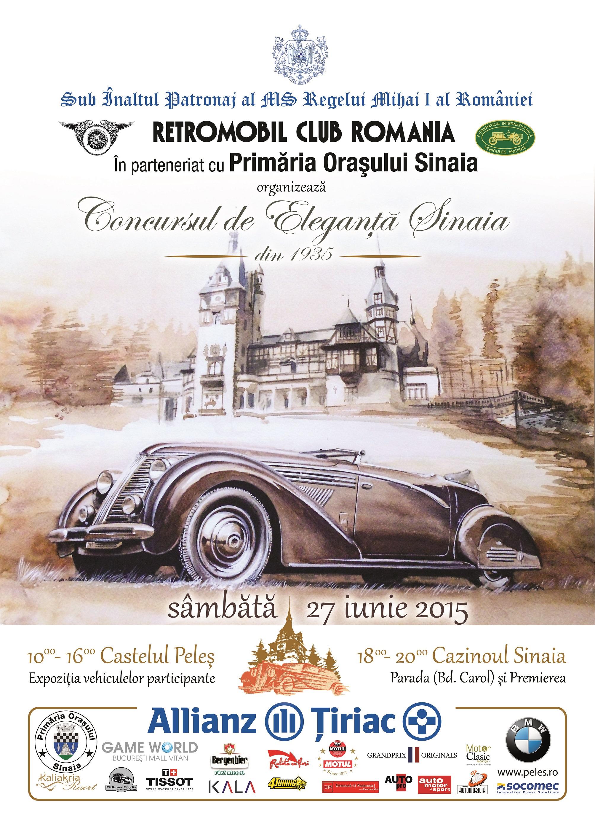Sâmbătă, la Sinaia, are loc cea de-a V-a ediție a Concursului de Eleganţă Automobilistică