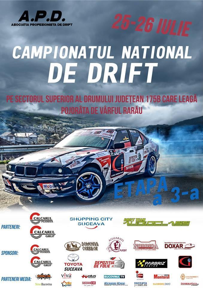 Etapa a 3-a a Campionatul National de Drift va avea loc in weekendul 24-26 iulie