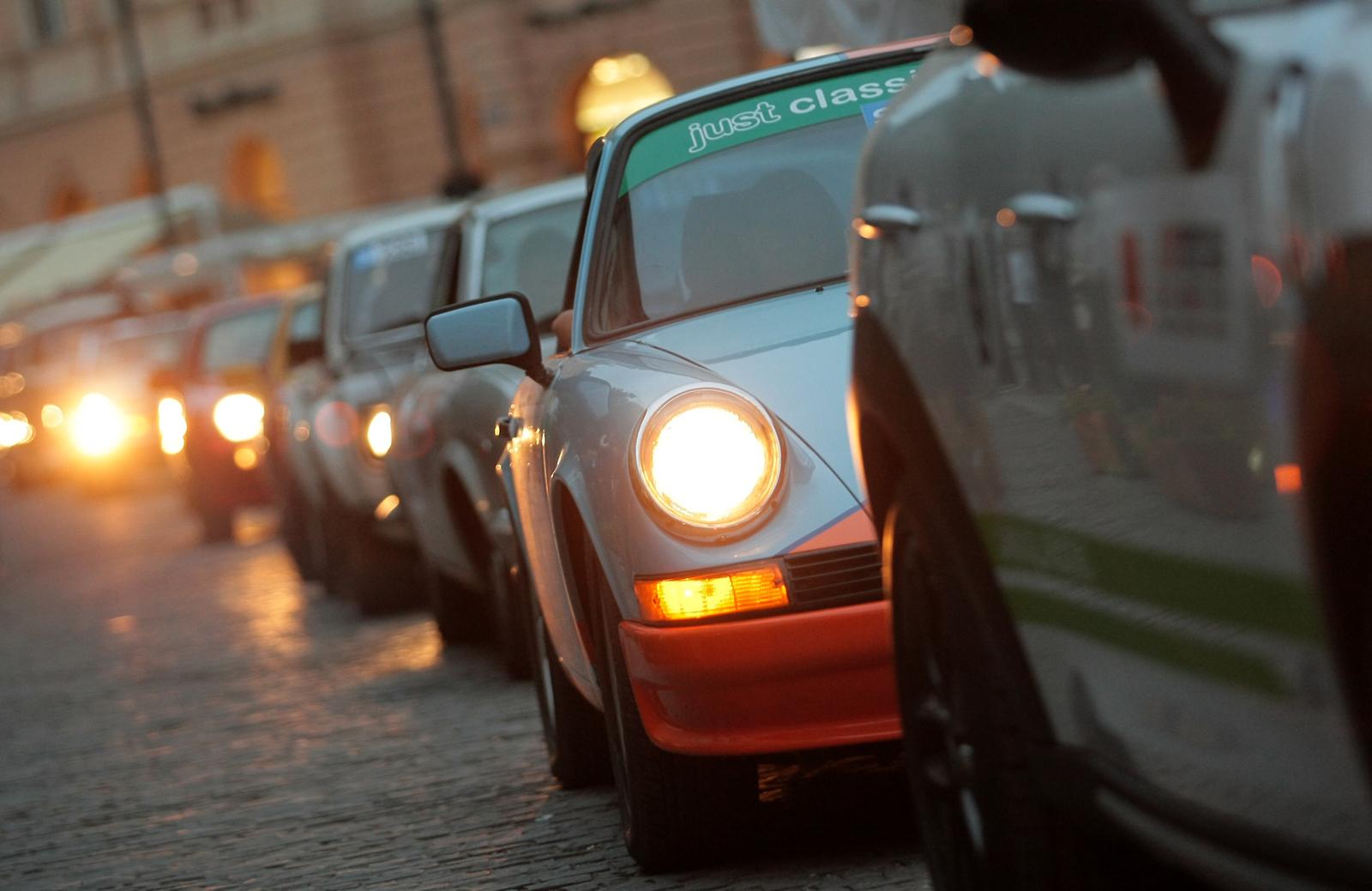 Sibiu Rally Challenge a început cu parada pe străzile din centrul orașului