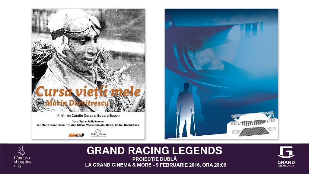 Grand Racing Legends – două filme documentare dedicate eroilor din motorsport debutează pe marile ecrane din România
