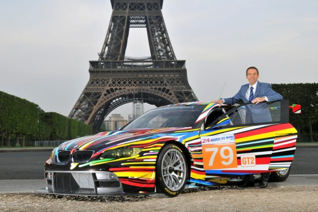 Jeff Koons and the 17th BMW Art Car at Tour Eiffel in Paris, 2010 (05/2010)