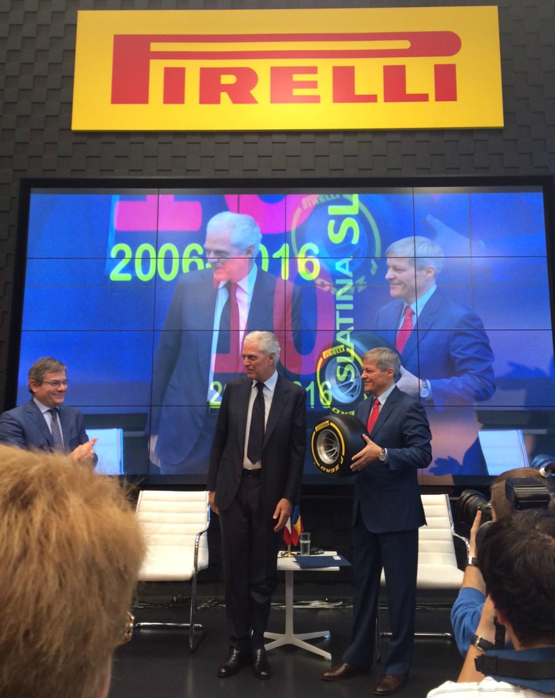 Pirelli va investi în continuare aproximativ 200 de milioane de euro în România până în 2021