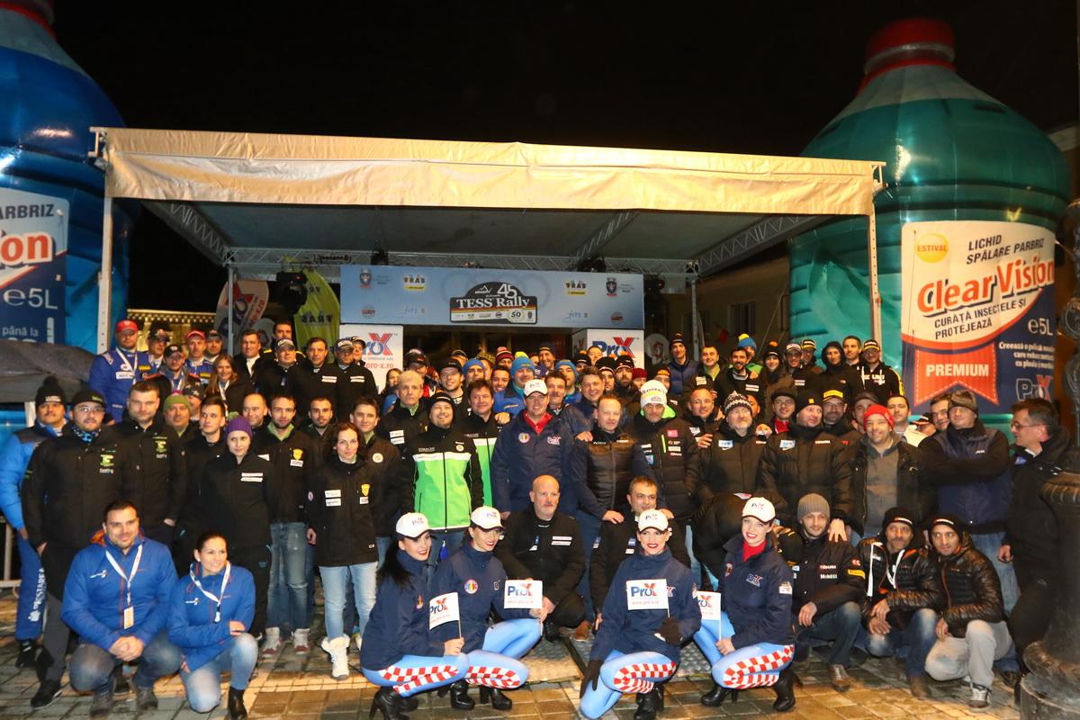 70 de echipaje la start-ul Tess Rally 46