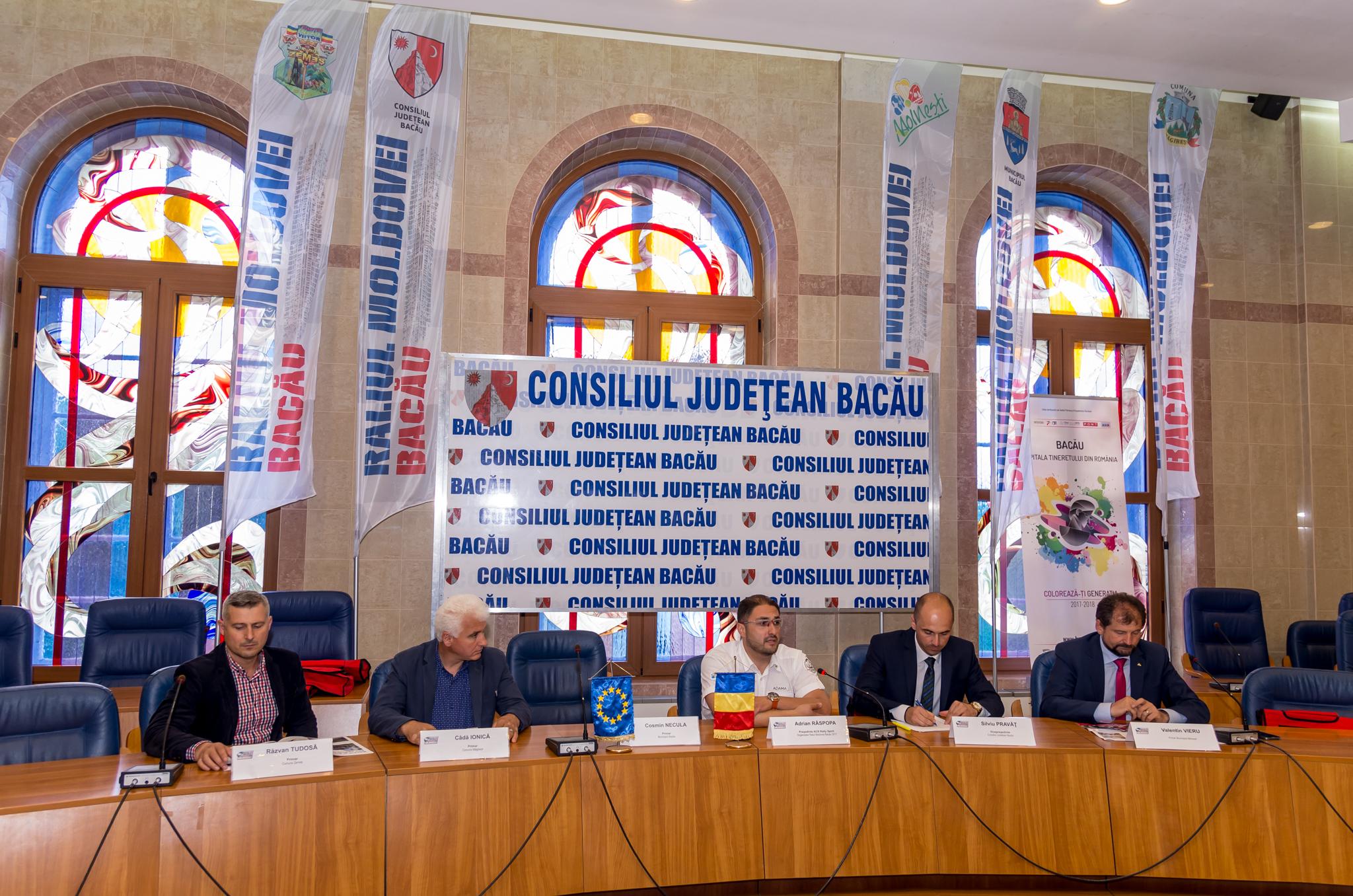 CONFERINTA DE PRESA PREMERGATOARE RALIULUI MOLDOVEI BACAU 2017