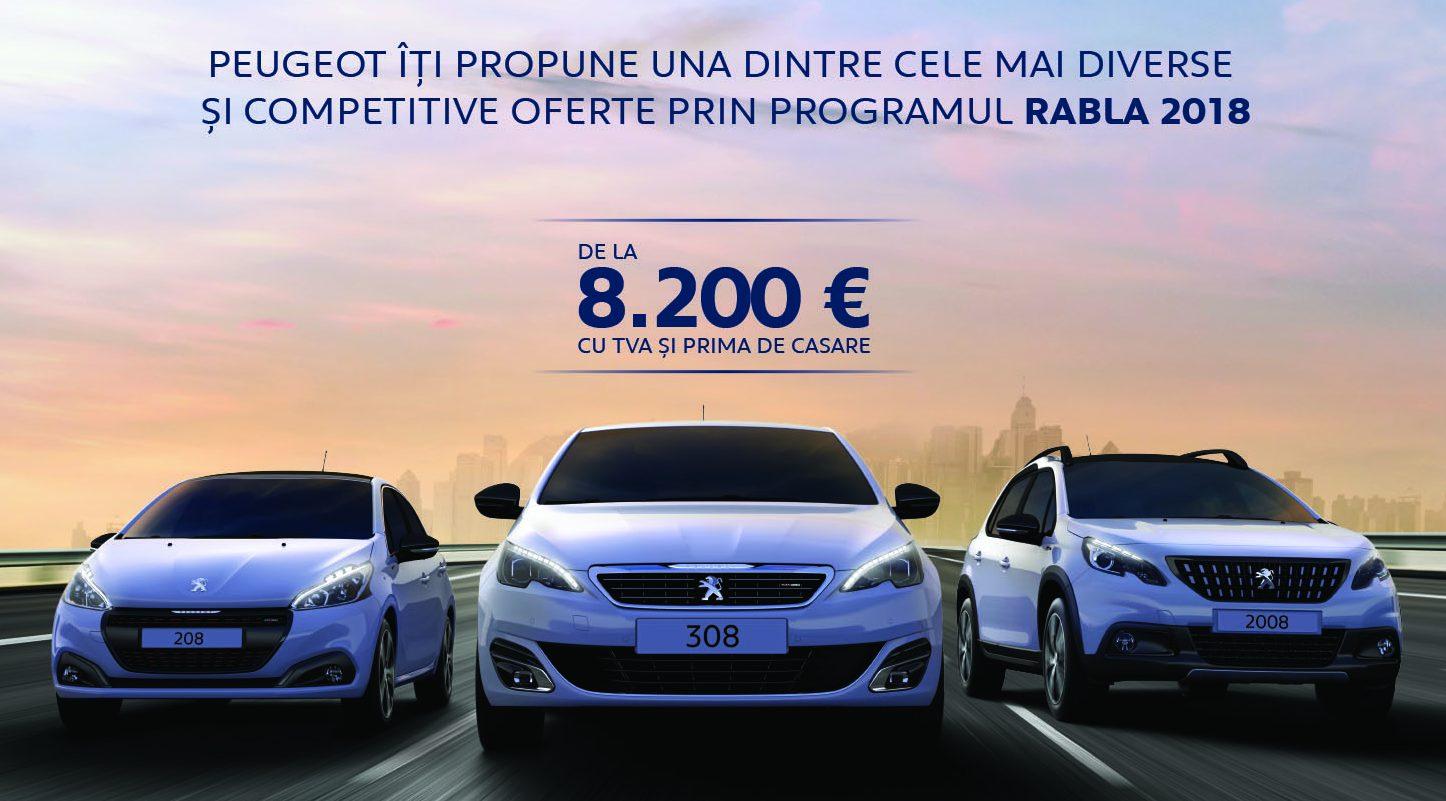 Peugeot aliniază 9 modele la linia de start pentru programul Rabla 2018