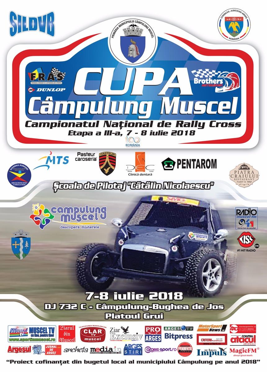 Programul Cupei Câmpulung Muscel la Rally Cross 2018