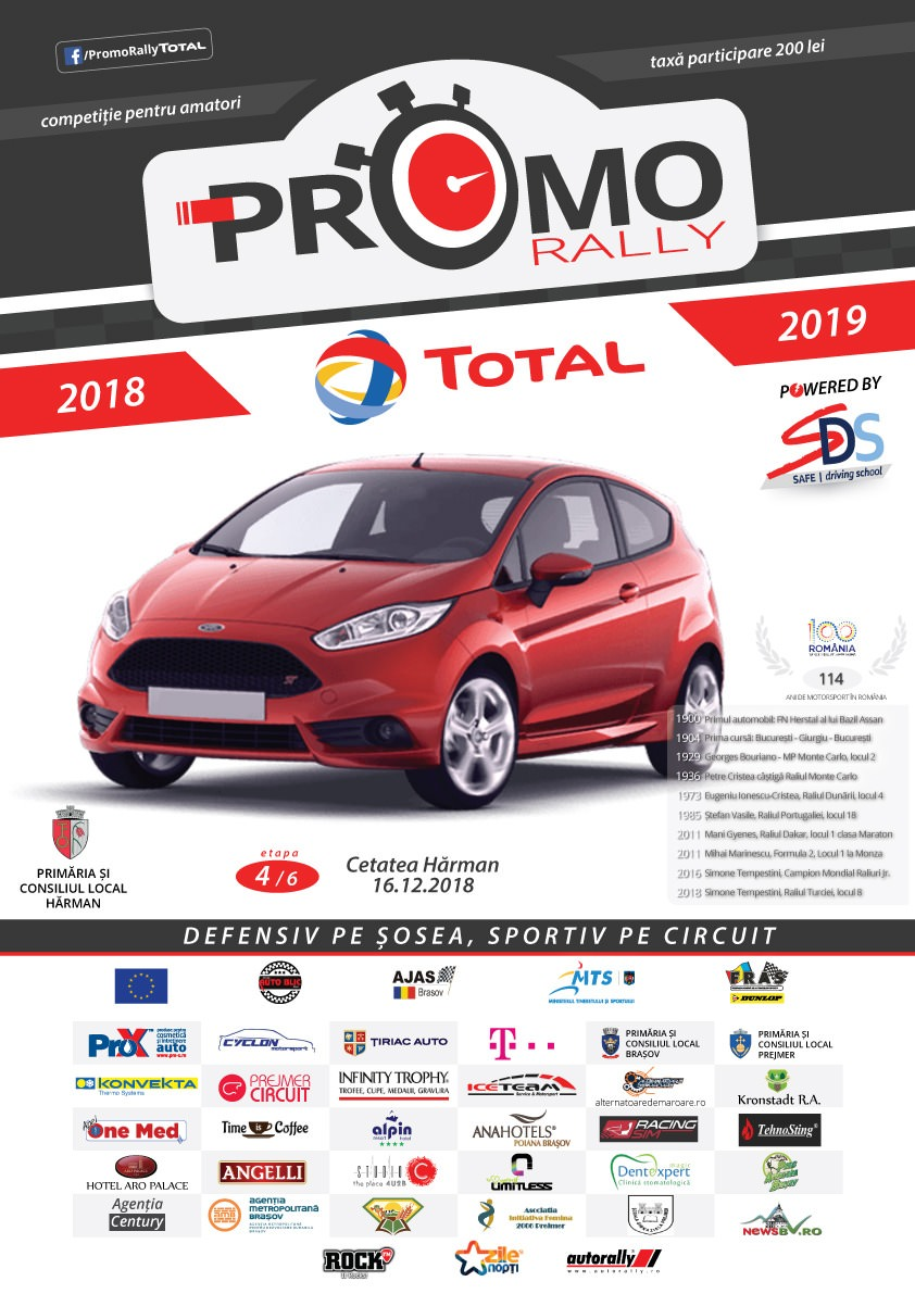 Promo Rally TOTAL powered by SDS ajunge la Hăman