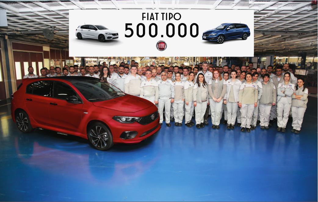 Fiat Tipo atinge pragul de 500.000 de unitati  construite