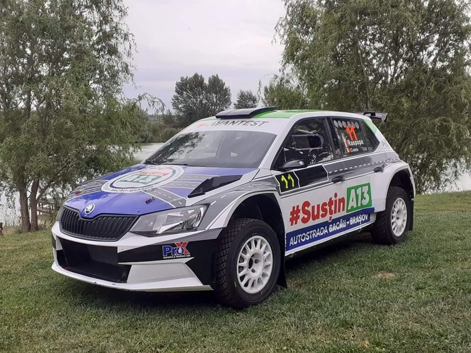 Adrian RĂSPOPA va pilota o Skoda Fabia R5 la Raliul Iașului