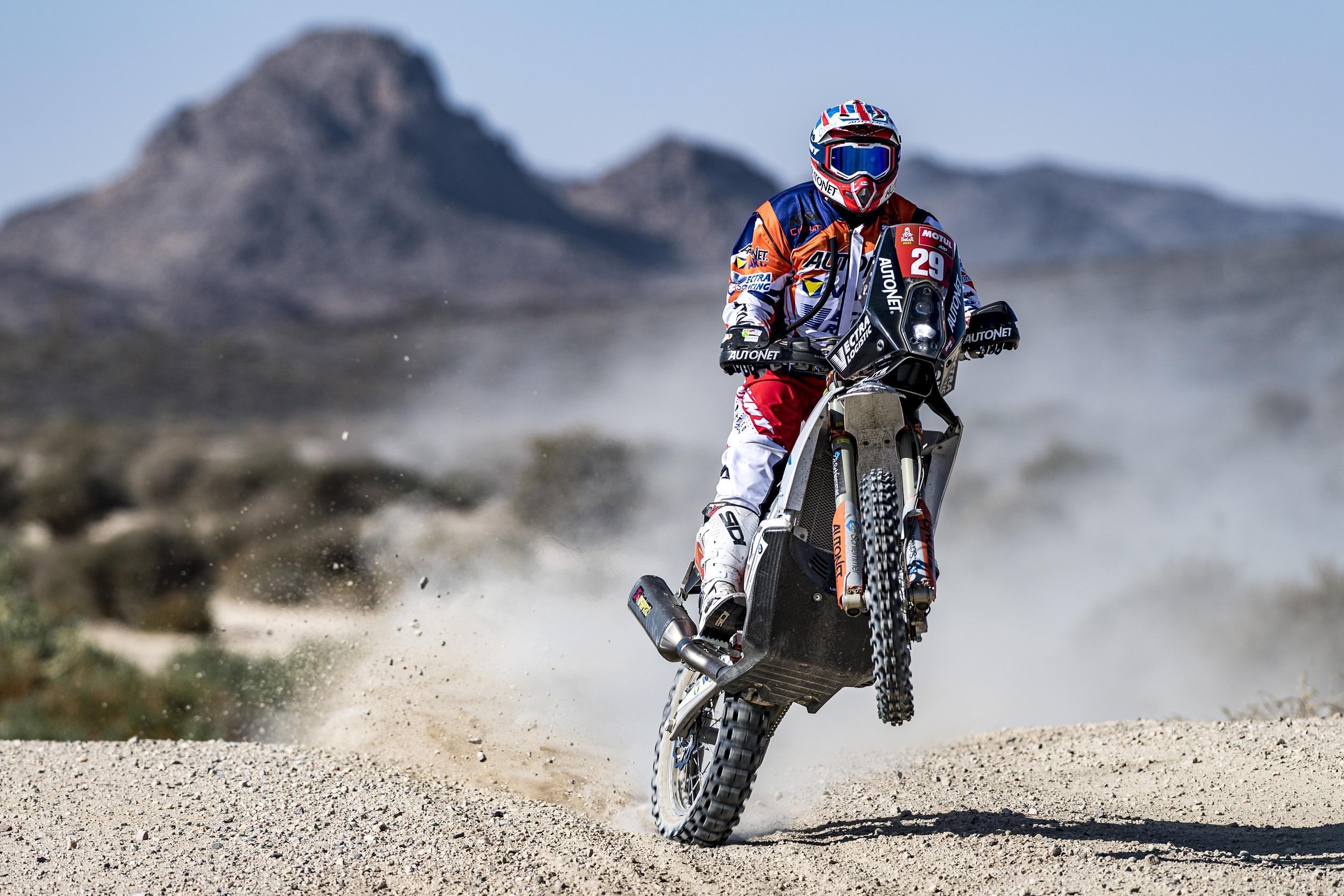 Mani Gyenes, debut promițător în Dakar 2021